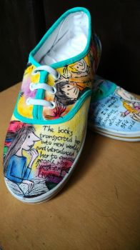 Roald Dahl Shoes by inkysoles