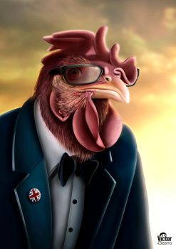 Hipster Chicken With Thick Glasses by aBizarreMind