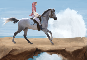 Race by the ocean by NymphTale