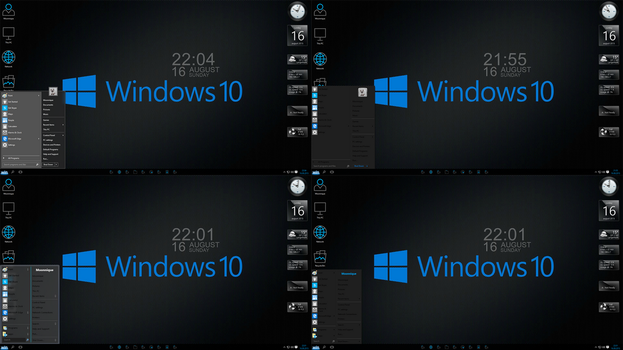 Windows 10 Black edition screen 3 by Moonnique
