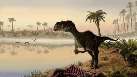 Dawn of the Jurassic Period. by Plioart