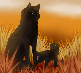 Mother and adopt puppy by ZeRaLeX