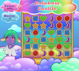 Rainbow Cookie Game Project by Naderia
