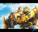 Mikaela and Bumblebee by JasonCardy