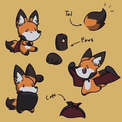 Little Chander - Character Ref by Chander-Fox