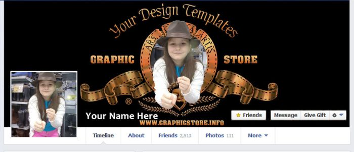 MGM FACEBOOK TIMELINE COVER PSD TEMPLATE by silviubacky