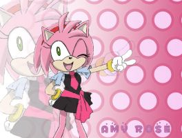 Amy Rose Wallpaper by ILoveAmyRose