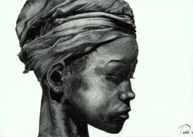 african woman. by Elwig