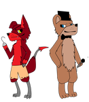 Foxy And Freddy by TropicaIDeer