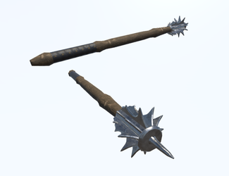 Mace 2 (Medieval Game Asset) by IamaGenious