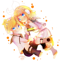 Collab with Ethtarra ! Kagamine V4x ! by Seiini