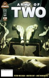 Army of Two issue 3 cover by scott-baumann