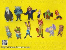 Zootopia figures set by Richmen