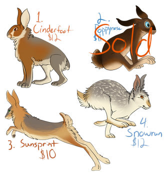 Hare Adoptables [OPEN] by SanjanaStone