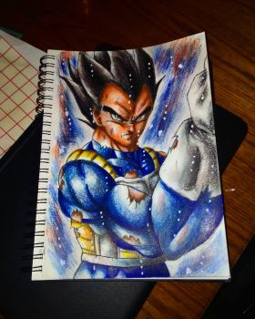 Ultra instinct vegeta by xprotector10
