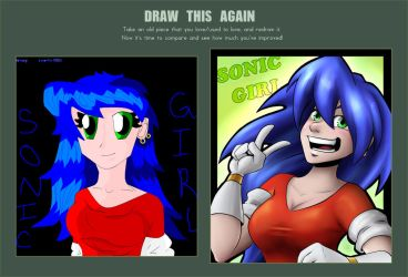 Draw This Again - Sonic Girl by BethanyAngelstar