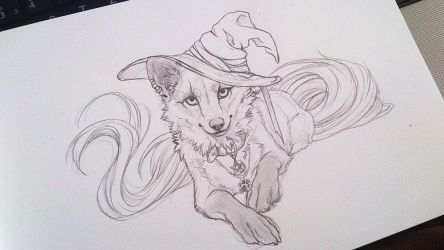.: Cute Witch :. SKETCH WIP by WhiteSpiritWolf
