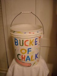 Bucket For Chalk by caspercrafts