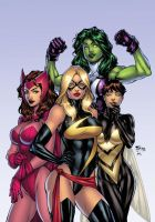 avengers girls by texas0418-dadv3we XGX by knytcrawlr