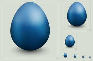 Twitter egg icon by hbielen