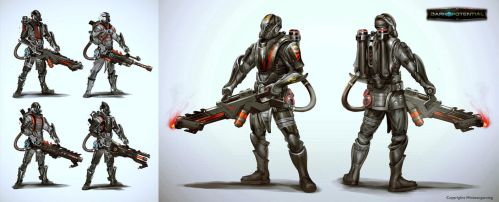 Dark Potential - Corporation - Flamer Specialist by Mikeypetrov