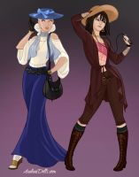 Covergirls of Westeros - Daenerys and Arya by L-sama-no-miko