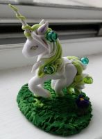 Unicorn of spring by Greenhorngal