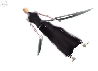Bleach - Ichigo  (New Zangetsus) by MonkeyDDante