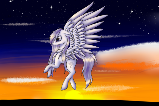 Over the Sunset by dragongirl0130