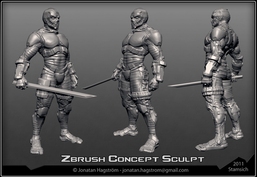 3D Character Concept Sculpt by Stamsich