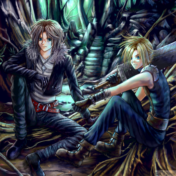 FF Cloud and Squall collab by Soreiya