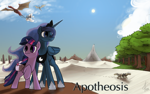 Commission:  Apotheosis cover art by Dreatos