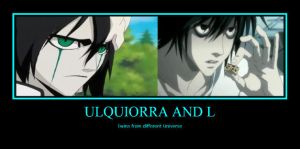 Ulquiorra and L by water16dragon