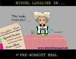 Miguel Pre-workout Meal by HardcoreLittleChick