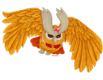 Pixel Shiny Noctowl by kittyshadow