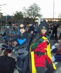 Robin and Nightwing by Vangi