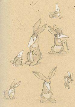 Rabbits in Masks by ursulav