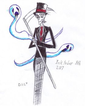 Inktober 8th: More Mr. Mortality by DonnaDarling1412