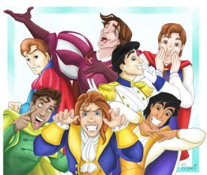 Disney Princes Smile for the Camera by RiverCreek