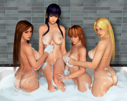 Dead or Alive Bubble Girls by RadiantEld