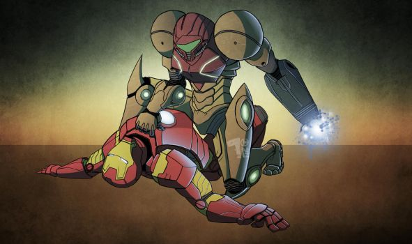 Samus Vs Ironman by Pumaboy3d