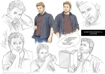 supernatural: Lucifer Sketches by MathiaArkoniel