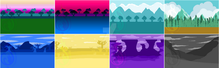 Pixel Sceneries by YellowRoseofTexas