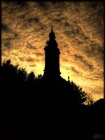 Church at sunset by daRRkoSerbia