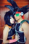 Gine and Bardock by Oniakako