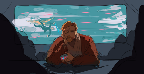 obiwan needed a drink by javvie
