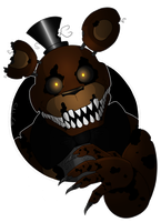 Nightmare Freddy shirt design  by SideshowFreddy