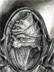Wrex Portrait by efleck
