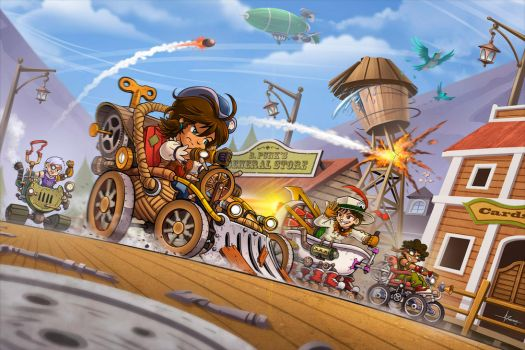 Junkyard Derby - Cover Art by 47ness