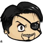 Majima chibi head by hyrelynk
